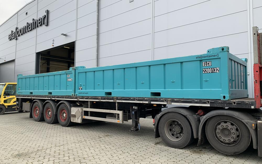 Half Height Container on a truck