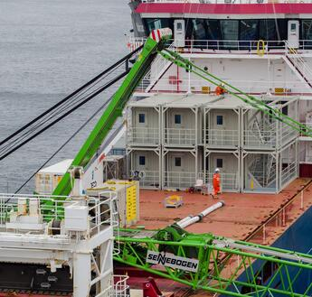Temporary Offshore Accommodation on board a supply vessel
