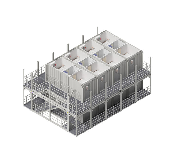 20 ft ELA Offshore Turnkey Solution (two-story)