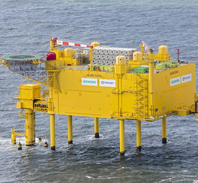 ELA Offshore Container auf Konverterplattform