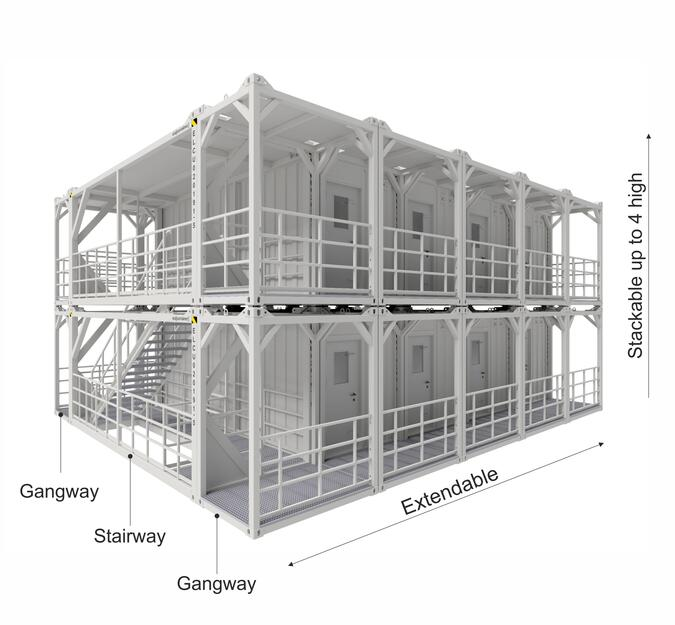 Extendable and stackable container system