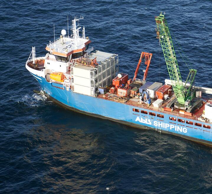 Temporary Offshore Accommodation on a cargo ship
