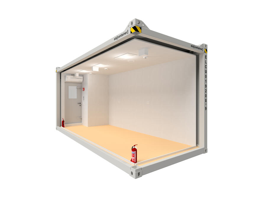 20 ft ELA Offshore Multipurpose Container - open isoview