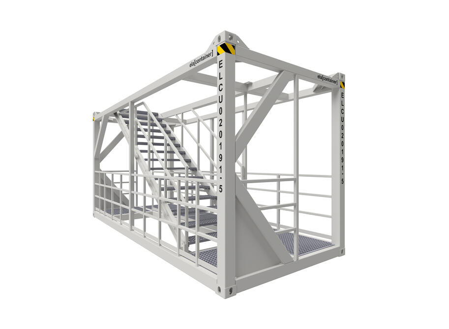 20 ft ELA Offshore Stairway Container - isoview