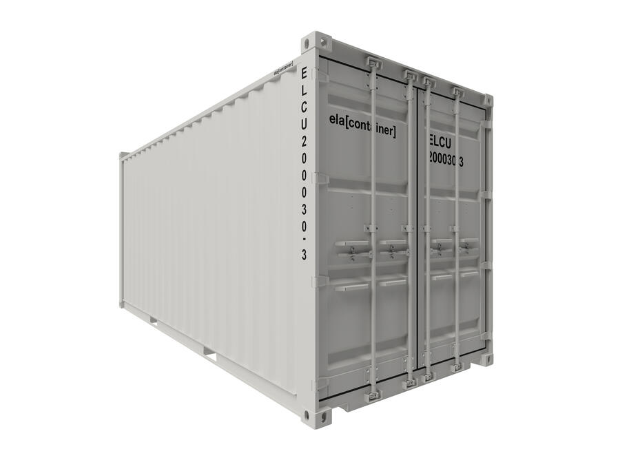 20 ft ELA Offshore Workshop Container - closed isoview