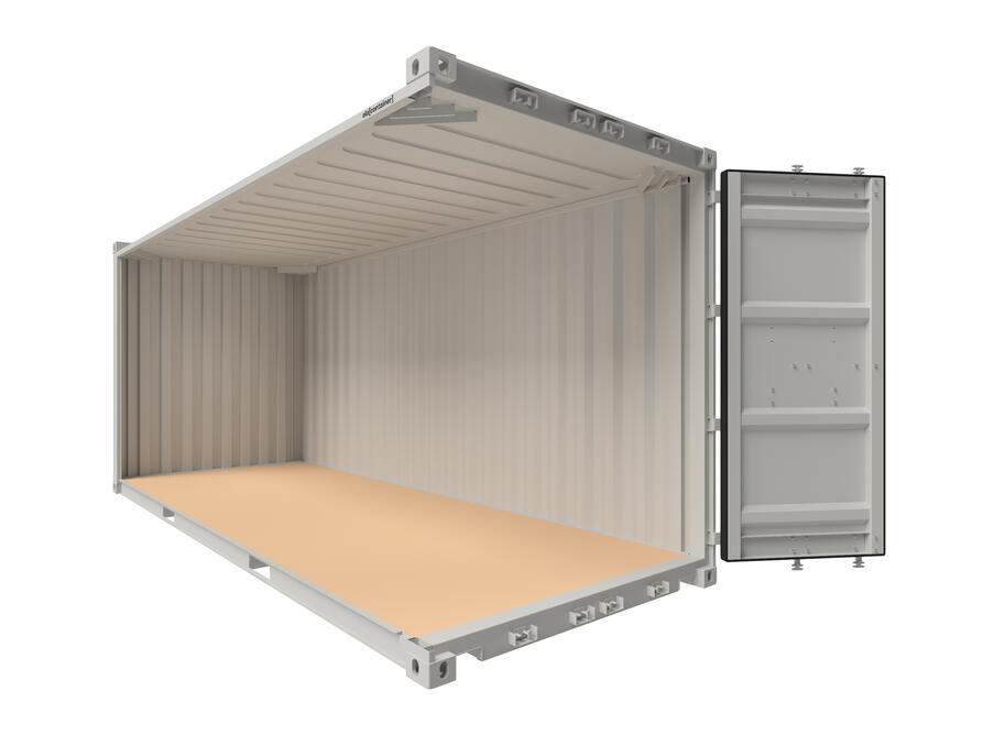 20 ft ELA Offshore Workshop Container - open isoview