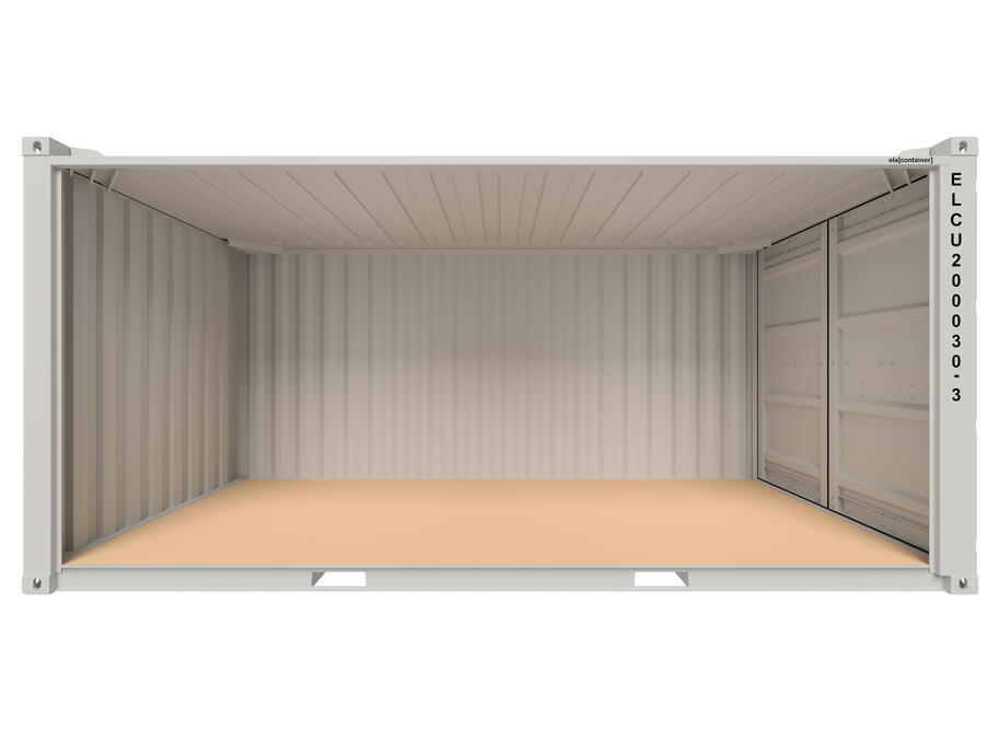 20 ft ELA Offshore Workshop Container - open sideview