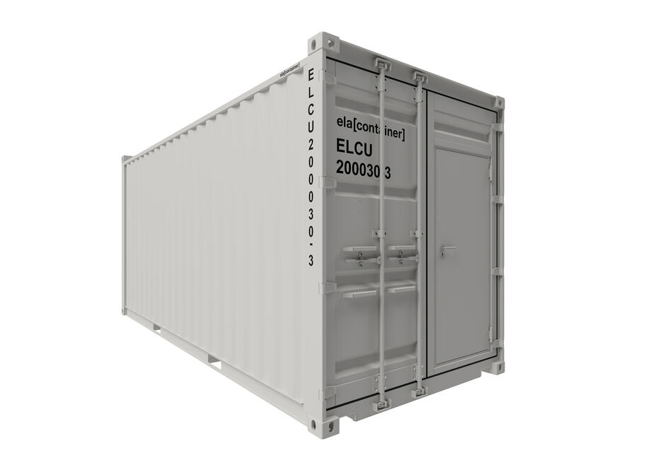 20 ft ELA Offshore Workshop Container insulated + extra door - closed isoview
