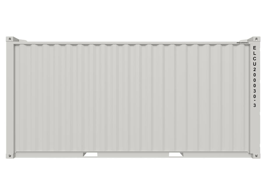 20 ft ELA Offshore Workshop Container insulated + extra door - Seitenansicht geschlossen