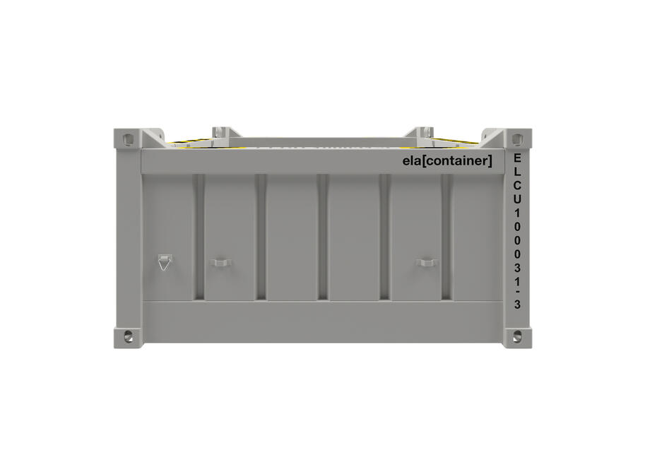 10 ft ELA Offshore Half Height Container - frontview